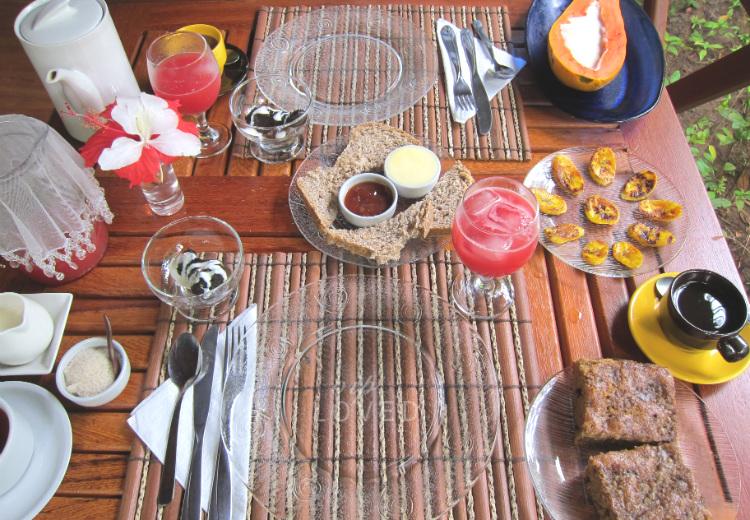 Desayunos Pousada Anjalí Boipeba Brasil