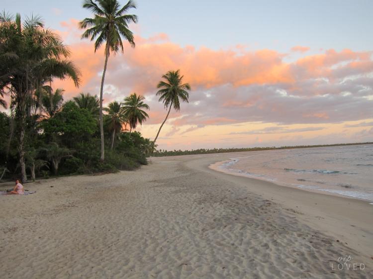 Salida del Sol en el Pareo Boipeba Brasil